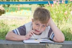 Child writing three