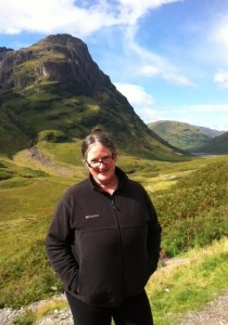 At Glencoe, enduring the awful weather and the dreary scenery...