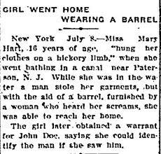 wearing a barrel story