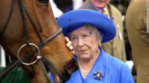 horse with queen mum