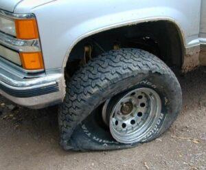 jan flat tire