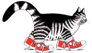 cat kliban sneakers