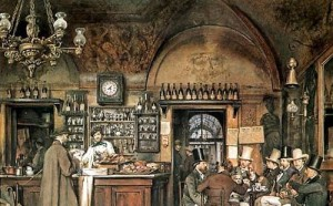 DRNA1017, Cafe Grecco, Hamburg, 19th Century German coffee house