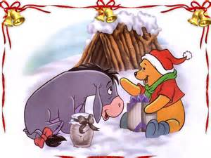 pooh and eyore at Christmas