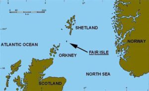 map of Orkneys